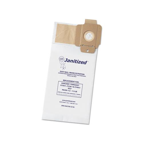 Janitized Vacuum Filter Bag Designed To Fit Karcher-tornado Cv30-1, Cv38-1, Cv48-2, 100-ct