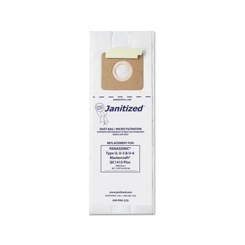 Janitized Vacuum Filter Bags Designed To Fit Panasonic Upright Type U, 36-ct