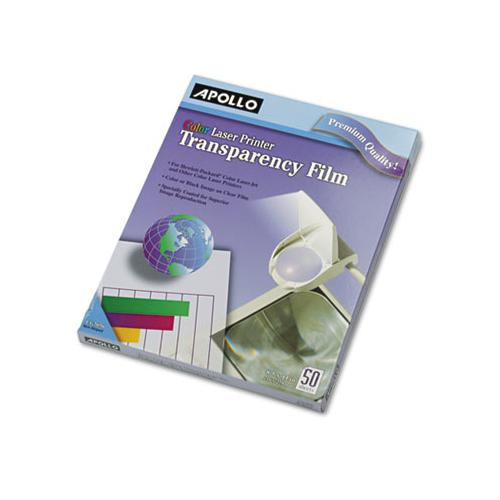 Apollo Color Laser Transparency Film, Letter, Clear, 50-box