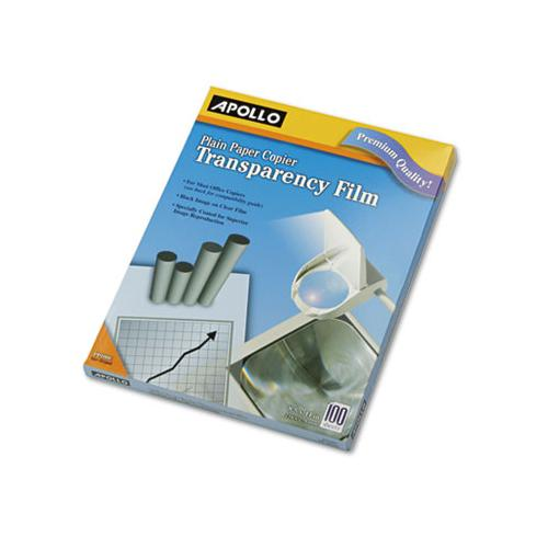 Apollo PLAIN PAPER B-W TRANSPARENCY FILM, LETTER, CLEAR, 100-BOX