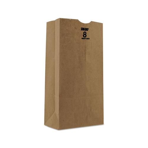 General #8 Paper Grocery Bag, 50lb Kraft, Heavy-Duty 6 1-8 X 4 1-8 X 12 7-16, 500 Bags
