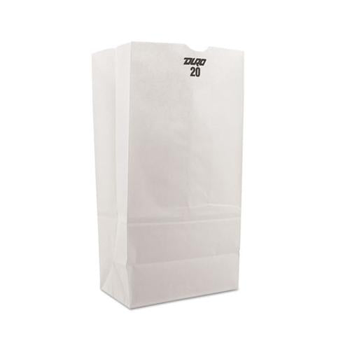 General #20 Paper Grocery Bag, 40lb White, Standard 8 1-4 X 5 5-16 X 16 1-8, 500 Bags