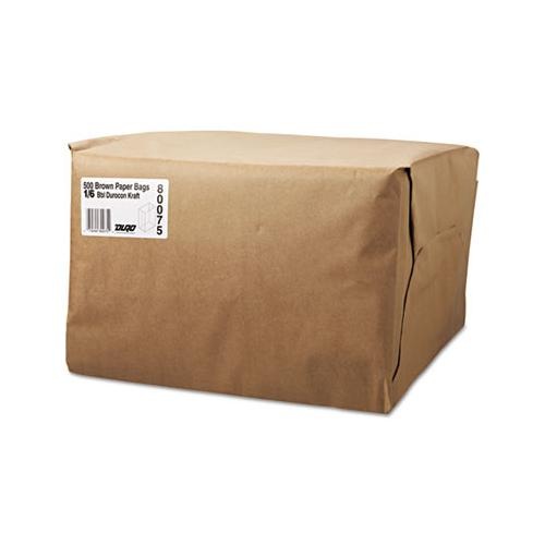 General 1-6 Bbl Paper Grocery Bag, 52lb Kraft, Standard 12 X 7 X 17, 500 Bags