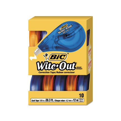 "BIC Wite-Out Ez Correct Correction Tape, Non-Refillable, 1-6"" X 472"", 10-box"
