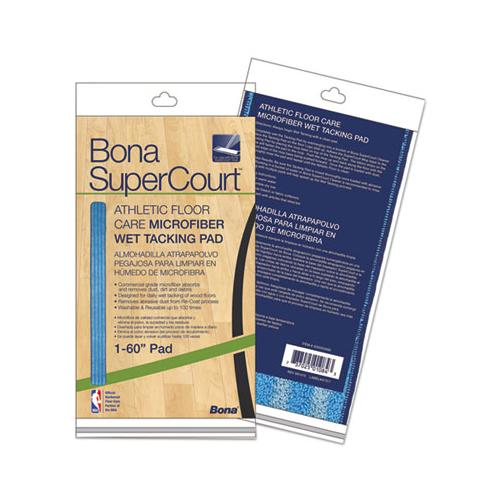 "Bona Supercourt Athletic Floor Care Microfiber Wet Tacking Pad, 60"", Light-dark Blue"