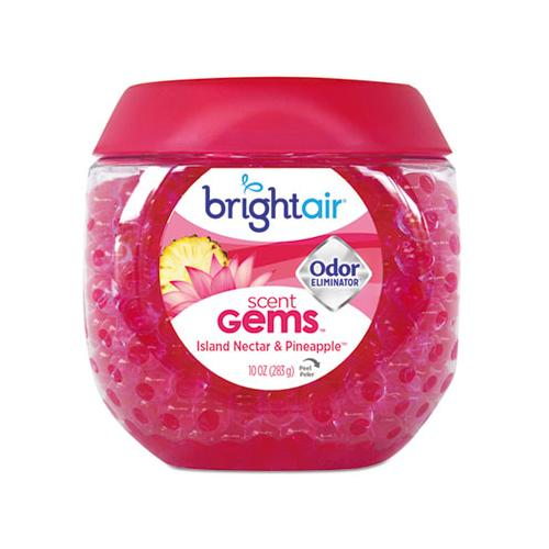 BRIGHT Air Scent Gems Odor Eliminator, Island Nectar And Pineapple, Pink, 10 Oz