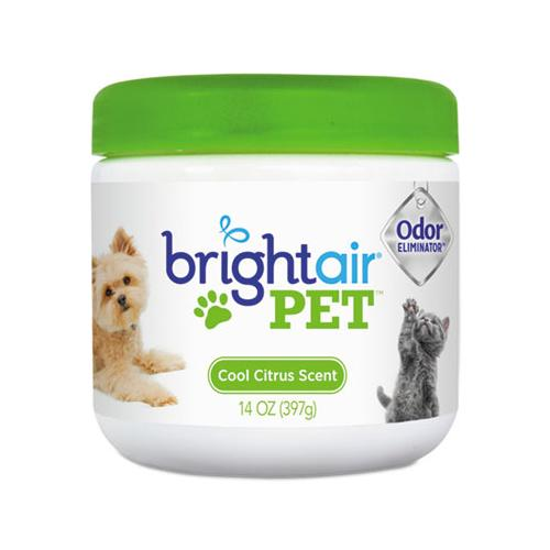 BRIGHT Air Pet Odor Eliminator, Cool Citrus, 14 Oz Jar, 6-carton
