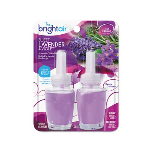 BRIGHT Air Electric Scented Oil Refill, Sweet Lavender-violet,0.67oz Jar, 2-pk, 6pk-ctn