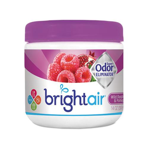 BRIGHT Air Super Odor Eliminator, Wild Raspberry & Pomegranate, 14 Oz Jar