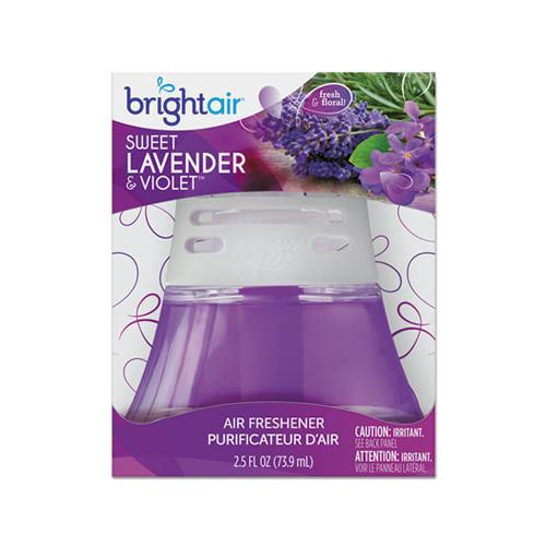 BRIGHT Air SCENTED OIL AIR FRESHENER SWEET LAVENDER AND VIOLET, 2.5 OZ, 6-CARTON