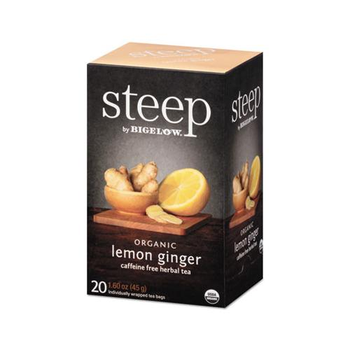 Bigelow Steep Tea, Lemon Ginger, 1.6 Oz Tea Bag, 20-box