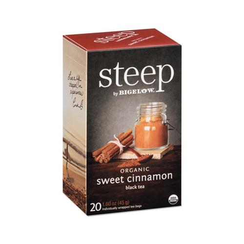 Bigelow Steep Tea, Sweet Cinnamon Black Tea, 1.6 Oz Tea Bag, 20-box