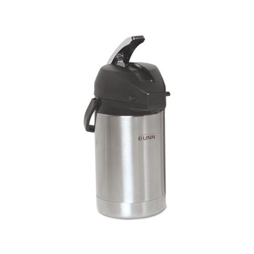 BUNN 2.5 Liter Lever Action Airpot, Stainless Steel