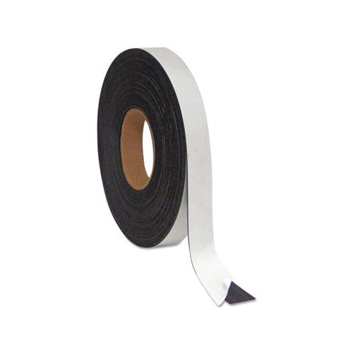 "MasterVisi Magnetic Adhesive Tape Roll, 1-2"" X 50 Ft., Black"
