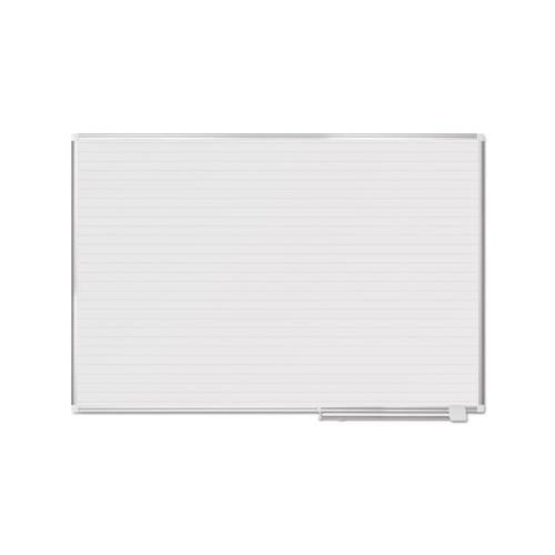 MasterVisi Ruled Planning Board, 72 X 48, White-silver