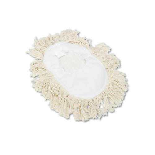 Boardwalk Wedge Dust Mop Head, Cotton, 17 1-2l X 13 1-2w, White