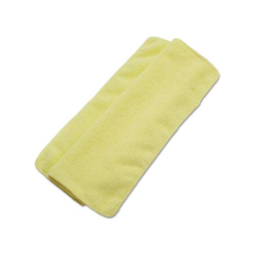 Boardwalk Lightweight Microfiber Cleaning Cloths, Yellow, 16 X 16, 24-pack