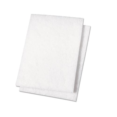 Boardwalk Light Duty Scour Pad, White, 6 X 9, 20-carton