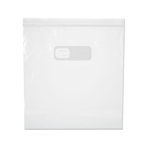 Boardwalk RECLOSABLE FOOD STORAGE BAGS, 1GAL, 1.75MIL, CLEAR, LDPE, 10.56 X 11, 250-BOX