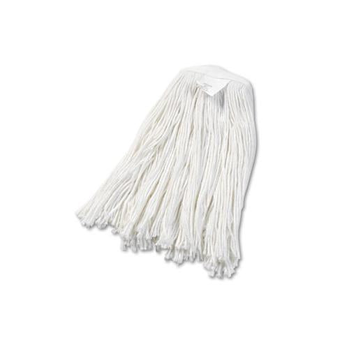 Boardwalk Cut-End Wet Mop Head, Rayon, No. 20, White, 12-carton
