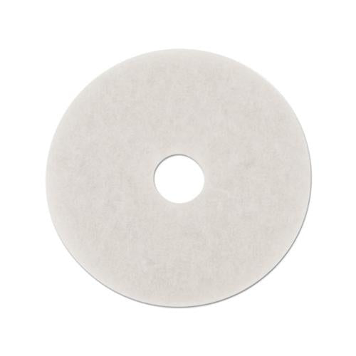 "Boardwalk POLISHING FLOOR PADS, 14"" DIAMETER, WHITE, 5-CARTON"