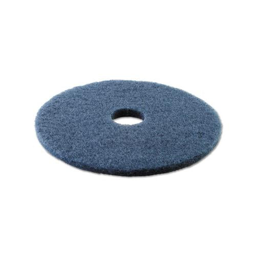 "Boardwalk SCRUBBING FLOOR PADS, 17"" DIAMETER, BLUE, 5-CARTON"