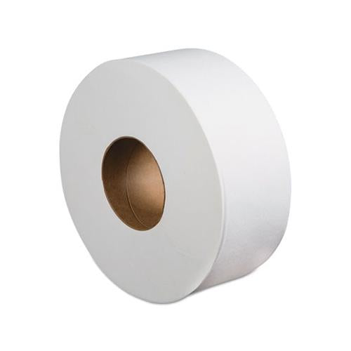 "Boardwalk Jumbo Roll Bathroom Tissue, 2-Ply, White, 3.4"" X 1000 Ft, 12 Rolls-carton"