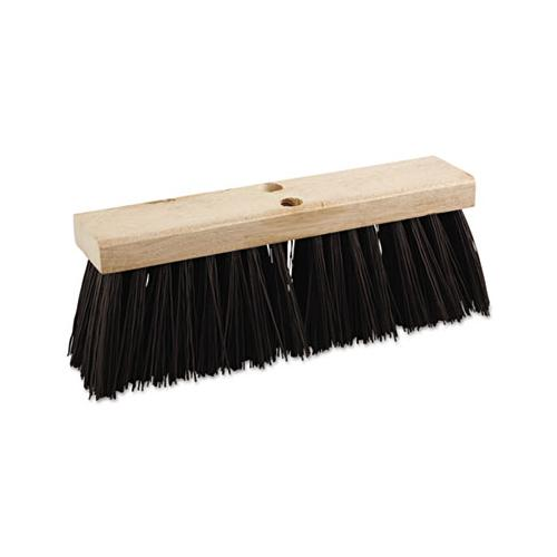 "Boardwalk Street Broom Head, 16"" Wide, Polypropylene Bristles"