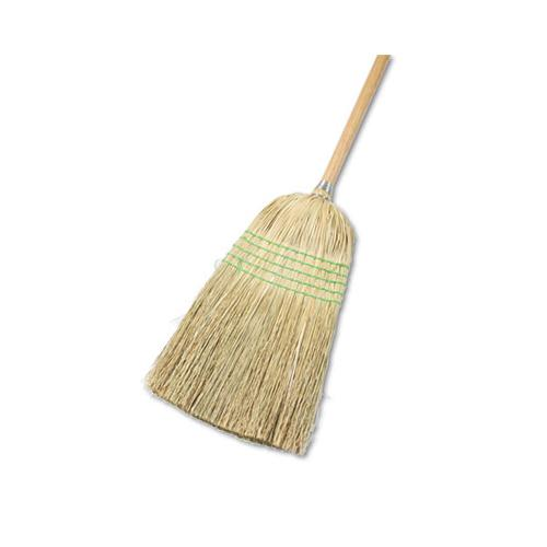"Boardwalk Parlor Broom, Yucca-corn Fiber Bristles, 56"", Wood Handle, Natural, 12-carton"