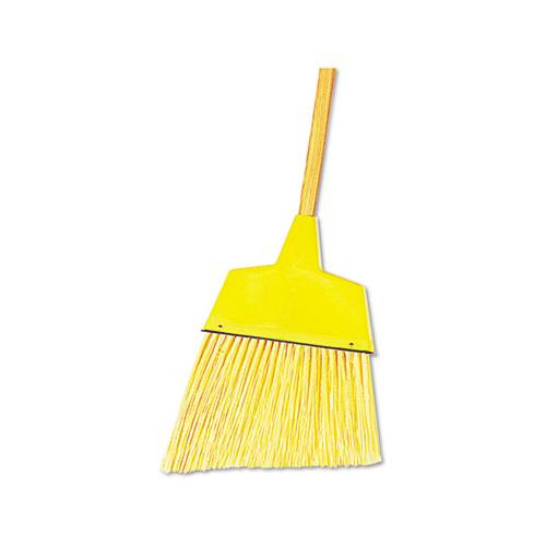 "Boardwalk Angler Broom, Plastic Bristles, 53"" Wood Handle, Yellow"