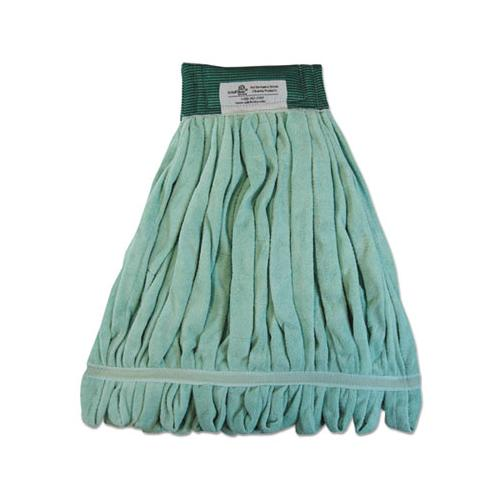 Boardwalk Microfiber Looped-End Wet Mop Head, Medium, Green