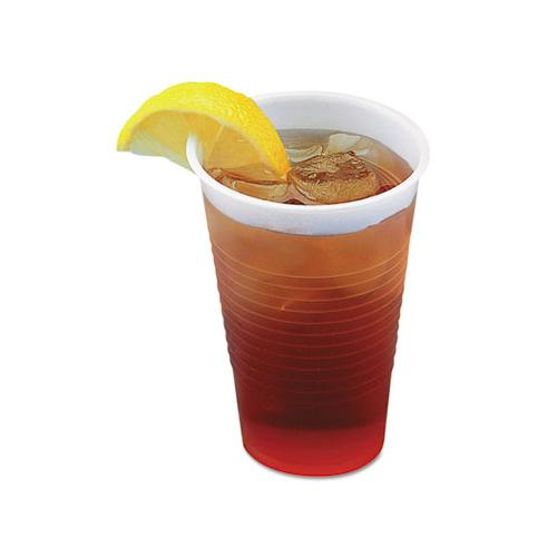 Boardwalk TRANSLUCENT PLASTIC COLD CUPS, 5OZ, POLYPROPYLENE, 100-BAG, 25 BAGS-CARTON