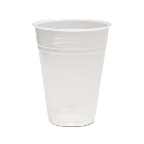 Boardwalk TRANSLUCENT PLASTIC COLD CUPS, 9OZ, POLYPROPYLENE, 100-BAG, 25 BAGS-CARTON