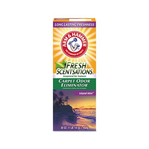 ArmHammer Fresh Scentsations Carpet Odor Eliminator, Island Mist, 30 Oz Box