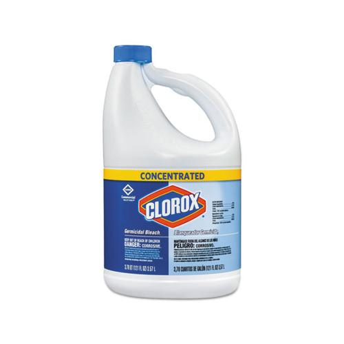 Clorox Concentrated Germicidal Bleach, Regular, 121oz Bottle, 3-carton