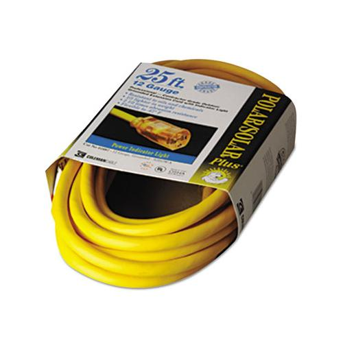 CCI Polar-solar Indoor-Outdoor Extension Cord With Lighted End, 25ft, Yellow