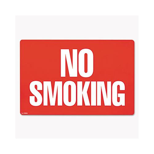 COSCO Two-Sided Signs, No Smoking-no Fumar, 8 X 12, Red