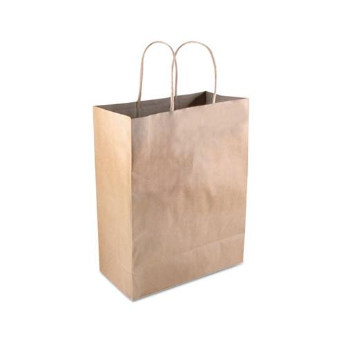 "COSCO Premium Shopping Bag, Brown Kraft, 8"" X 10 1-4"", 50-box"