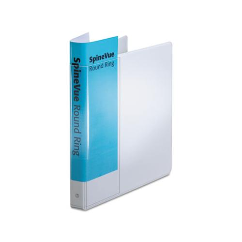 "Cardinal Spine Vue Locking Round Ring Binder, 1"" Cap, 11 X 8 1-2, White"