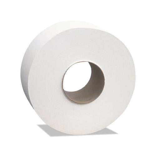 "Cascades Select Jumbo Roll Tissue, 2-Ply, White, 3 1-2"" X 1000 Ft, 12 Rolls-carton"