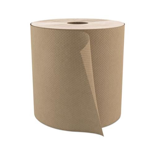 "Cascades Select Roll Paper Towels, 1-Ply, 7.9"" X 800 Ft, Natural, 6-carton"