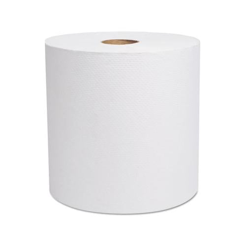 "Cascades Select Hardwound Roll Towels, White, 7 7-8"" X 800 Ft, 6-carton"