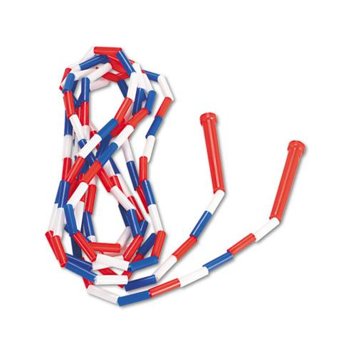 Champion Segmented Plastic Jump Rope, 16ft, Red-blue-white