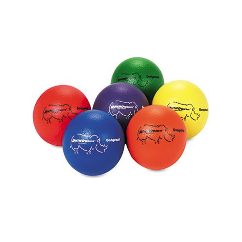 Champion Dodge Ball Set, Rhino Skin, Assorted Colors, 6-set