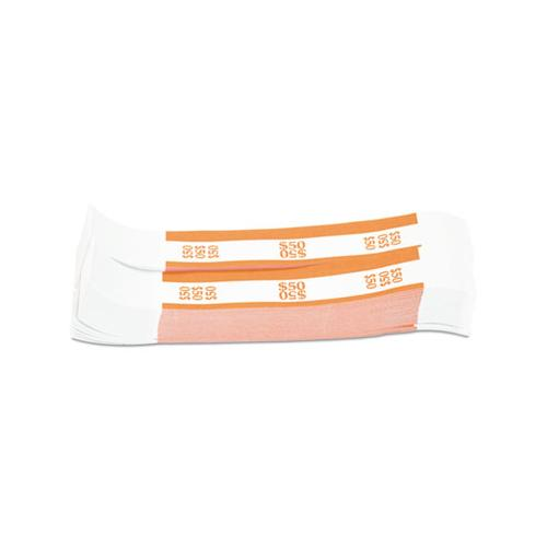 COINTAINER Currency Straps, Orange, $50 In Dollar Bills, 1000 Bands-pack