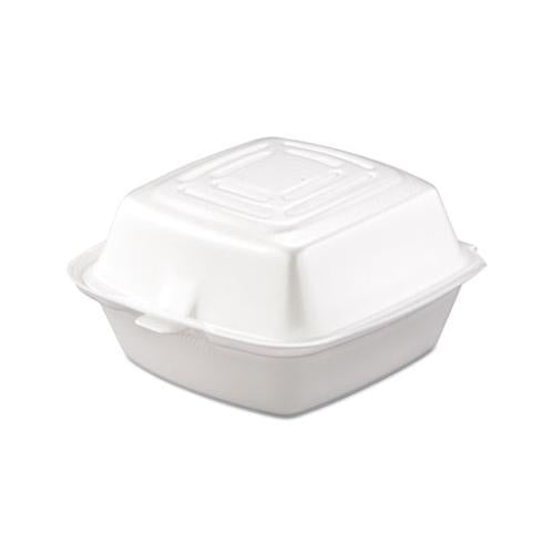 Dart Carryout Food Container, Foam, 1-Comp, 5 1-2 X 5 3-8 X 2 7-8, White, 500-carton