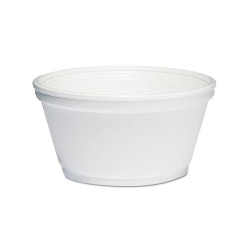 Dart Foam Container, 8oz, White, 1000-carton