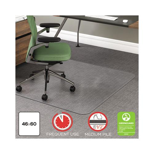 deflect-o ROLLAMAT FREQUENT USE CHAIR MAT, MED PILE CARPET, FLAT, 46 X 60, RECTANGLE, CR