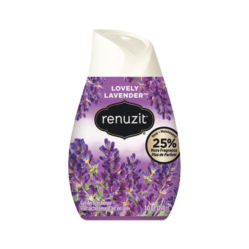 Renuzit ADJUSTABLES AIR FRESHENER, LOVELY LAVENDER, SOLID, 7 OZ, 12-CARTON