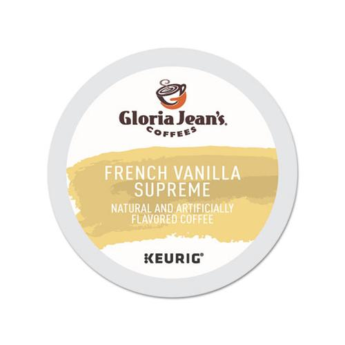 GlorJeans French Vanilla Supreme Coffee K-Cups, 96-carton